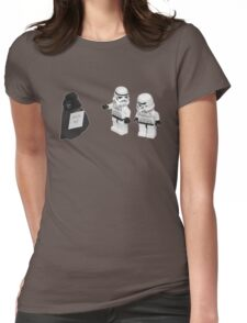 STORMTROOPERS KICK ME STAR WARS   Womens Fitted T-Shirt