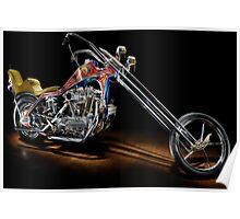 Evel Knievel Harley XLCH Chopper Poster