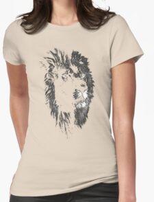 africa lion, lion black shirt Womens Fitted T-Shirt