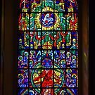 Rainbow, Religious Window. by Lee d'Entremont