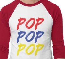 POP POP POP Men's Baseball ¾ T-Shirt