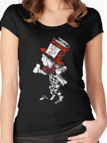 Scottish Mad Hatter T-Shirt Women's Fitted Scoop T-Shirt