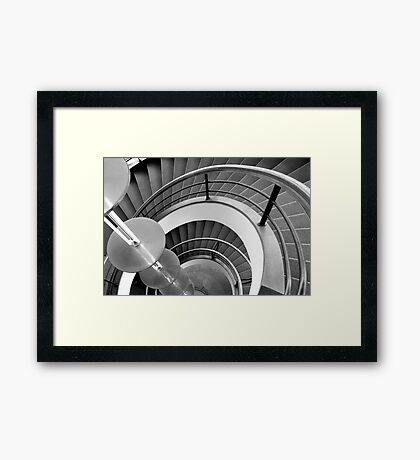 Curved Stairs Framed Print