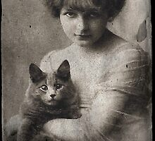 Girl with Cat by leapdaybride