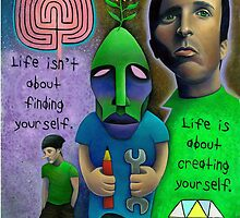 LIFE IS ABOUT CREATING YOURSELF by Damian  Swallow