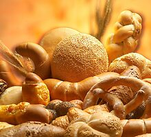Group of different bread products by photolcu