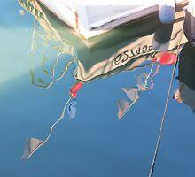 Reflection ,Fishing boat. by debraroffo