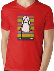 Candy Cane Mens V-Neck T-Shirt