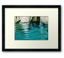 Waving seas Framed Print