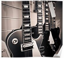 Gibson Les Paul electric guitars Poster