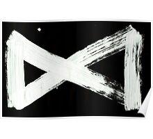 Macromannic Runes M Man 001 Inverted Poster