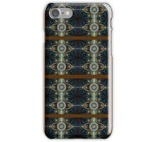 Brown & Blue Plaid Abstract iPhone Case/Skin
