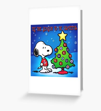 snoopy tree 2 Greeting Card