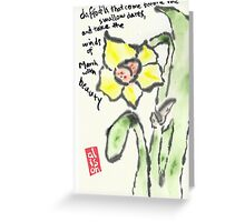 Daffodil etegami Greeting Card