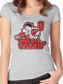 mega touch Women's Fitted Scoop T-Shirt