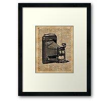 Antique Conley Camera,Vintage Encyclopedia Book Page Framed Print