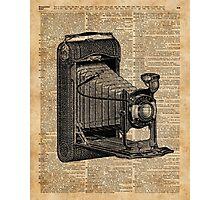 Antique Conley Camera,Vintage Encyclopedia Book Page Photographic Print