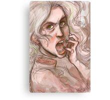 Scream your head off Canvas Print