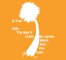 A tree falls - Lorax - Outline by InkIgnis