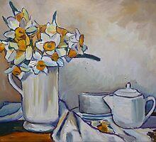Still life with Daffodils by Emma Cownie