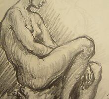 Nude portrait of a woman by atelierwilfried