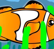 Happy Clown Fish Sticker