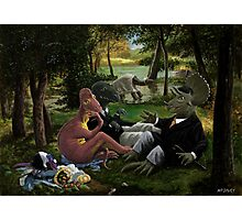 The Luncheon on the Grass with dinosaurs Photographic Print