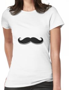 basic mustache Womens Fitted T-Shirt