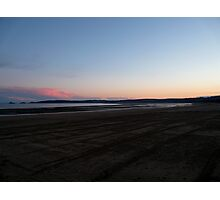 Swansea Pink Sunset Photographic Print