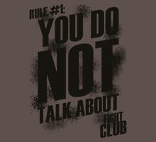 Fight Club - Rule #1 Unisex T-Shirt