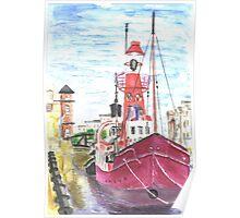 Helwick Tug Boat Swansea Poster