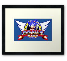 SONIC TITLE SCREEN Framed Print