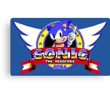 SONIC TITLE SCREEN Canvas Print