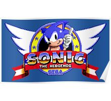 SONIC TITLE SCREEN Poster