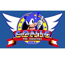 SONIC TITLE SCREEN Photographic Print