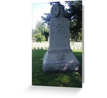 Monument to 20th N.Y. Infantry Greeting Card