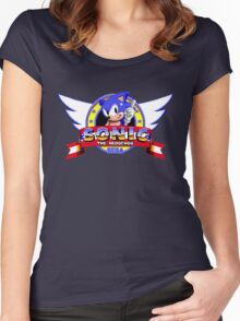 SONIC TITLE SCREEN Women's Fitted Scoop T-Shirt