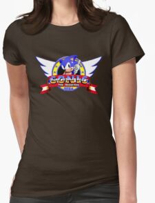 SONIC TITLE SCREEN Womens Fitted T-Shirt
