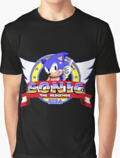 SONIC TITLE SCREEN Graphic T-Shirt