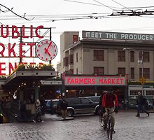 Pike's Public Market Entrance at Dusk - Ta-dah! by seeingred13