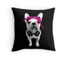 French Bulldog - Rap Throw Pillow