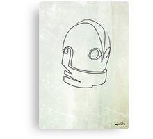 One Line Iron Giant Canvas Print
