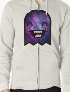Cute Space Ghost Zipped Hoodie