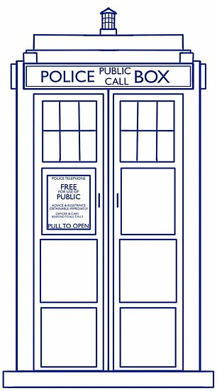 facingthewindow     Portfolio     TARDIS minimal small versionTardis Vector Outline