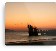 Sunset with Birds, Blackrock, Galway Metal Print