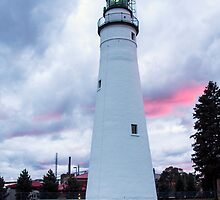 Fort Gratiot Lighthouse on Lake Huron at Dusk by gharris