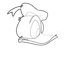 One line Donald Duck by quibe