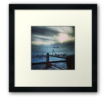 Secretive Snow Framed Print