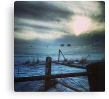 Secretive Snow Canvas Print