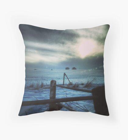 Secretive Snow Throw Pillow